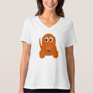 Camiseta de cão da salsicha