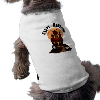 Camiseta de cão de assombro feliz do Dia das