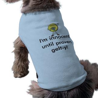 Camiseta de cão de Hanukkah - Innocent até gelt-y
