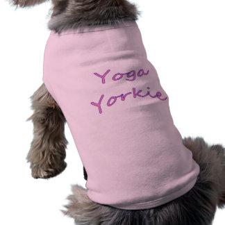 Camiseta de cão de Yorkie da ioga Camisas Para Cães