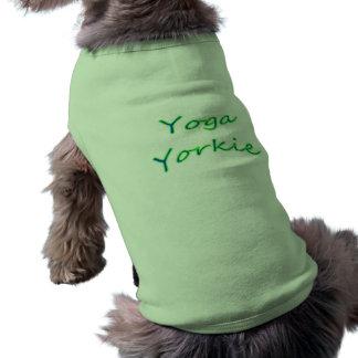 Camiseta de cão de Yorkie da ioga Camisa Sem Mangas Para Cachorro
