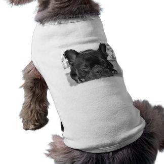Camiseta de cão do buldogue francês camisa sem mangas para cachorro