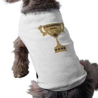 Camiseta de cão do campeão de PawsID Camisa Sem Mangas Para Cachorro
