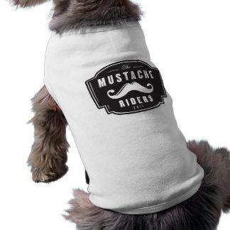 Camiseta de cão do cavaleiro do bigode