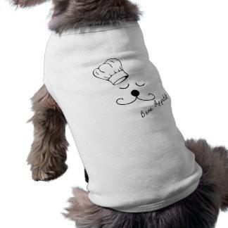 Camiseta de cão do cozinheiro chefe do cachorrinho