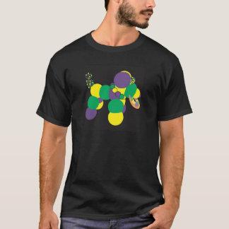 Camiseta de cão do grânulo do carnaval