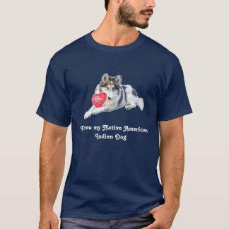 Camiseta de cão do indiano do nativo americano
