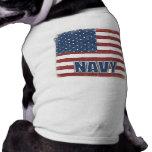 Camiseta de cão do marinho roupa para cães