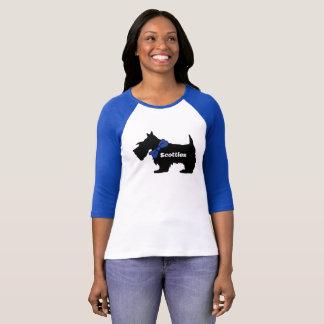 Camiseta de cão do Scottie das mulheres