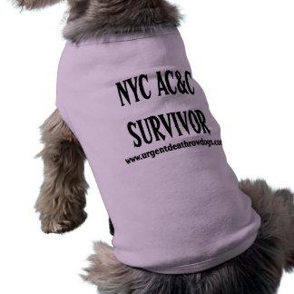 Camiseta de cão do SOBREVIVENTE do CRNA de NYC