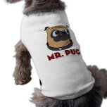 Camiseta de cão do Sr. Pug Camisas Para Caes
