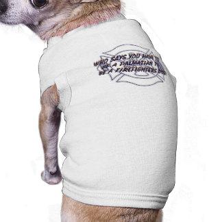 Camiseta de cão dos sapadores-bombeiros