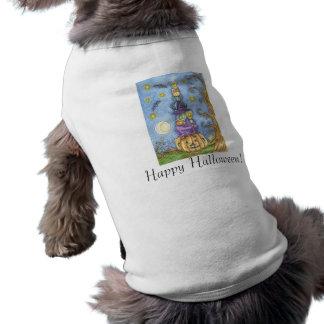 Camiseta de cão feliz do Dia das Bruxas Roupa Pet