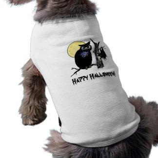 Camiseta de cão feliz do Dia das Bruxas Roupas Para Pets