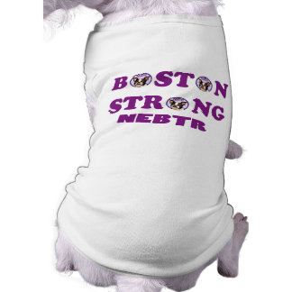 Camiseta de cão forte de NEBTR Boston