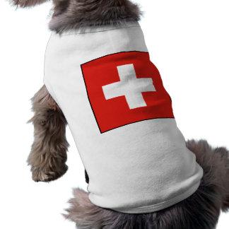 Camiseta de cão suíça da bandeira