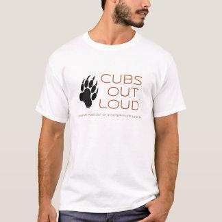 Camiseta De Cubs t-shirt alto do logotipo V2 para fora
