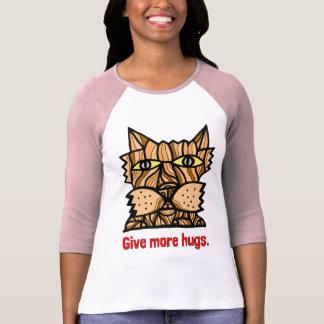 """Camiseta """"Dê de Raglan da luva de mais mulheres dos"""