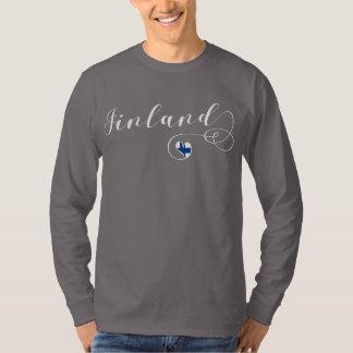 Camiseta de Finlandia do coração, finlandesa, Finn
