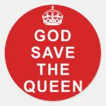 Camiseta de hino nacional do Reino Unido, as bolsa Adesivo Em Formato Redondo