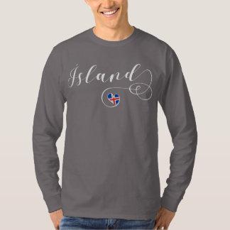 Camiseta de Islândia do coração, Ísland