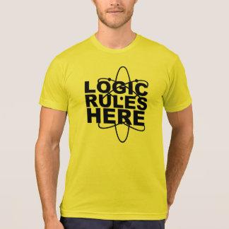 Camiseta De LÓGICA das REGRAS a ciência AQUI inspirou a EE