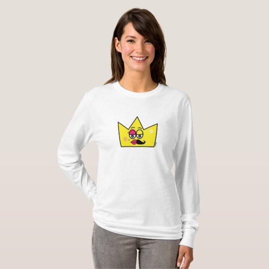 Camiseta de mangas compridas básica feminina