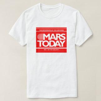Camiseta De Marte gráfico engraçado do SciFi do jornal hoje