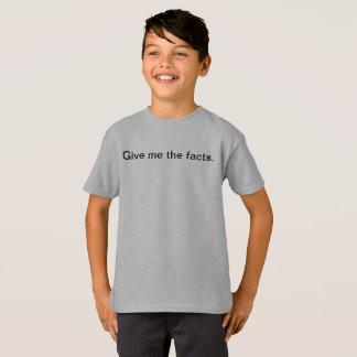Camiseta Dê-me os fatos miúdos engraçados t-shirt da escola