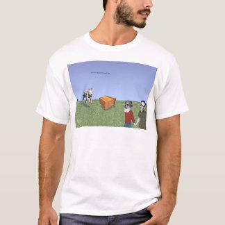 """Camiseta De """"O cão Pavlov, o gato de Schrödinger"""", 2002"""