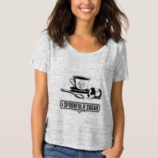 Camiseta Dê o cheio do pescoço da colher das mulheres do