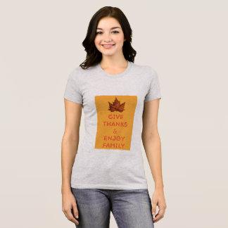 Camiseta Dê obrigados e aprecie o t-shirt do jérsei da