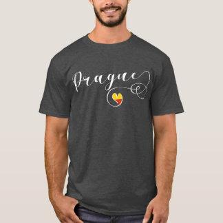 Camiseta de Praga do coração, república checa
