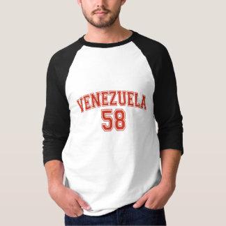 Camiseta De Raglan básico da luva do código de país de