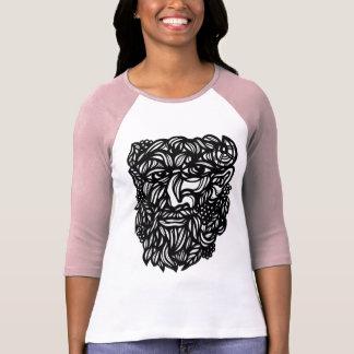 """Camiseta """"De Raglan da luva das mulheres de Zeus botânico"""""""