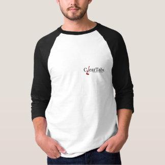Camiseta De Raglan da luva dos homens de ClearTabs 3/4