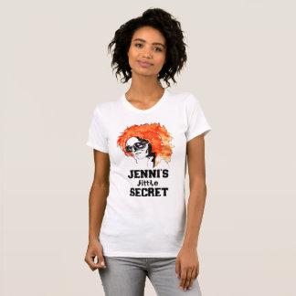 "Camiseta De ""Redhead do pouco segredo Jenni"" rotulado"