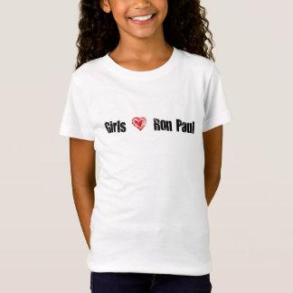 Camiseta de Ron Paul do amor das meninas