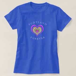 Camiseta De Scotland coração para sempre