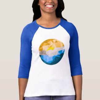 Camiseta De T do basebol dos SS das mulheres 3/4
