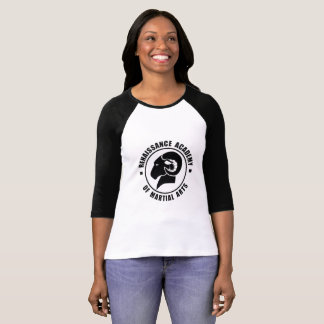 Camiseta De T preto e branco de RAM da luva das senhoras
