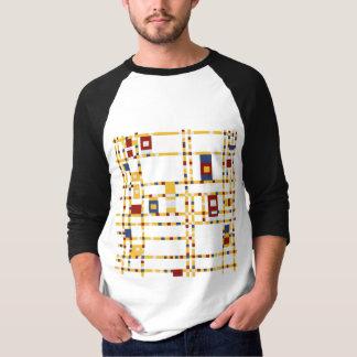 Camiseta De t-shirt básico do Raglan da luva dos homens 3/4