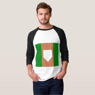 Camiseta de t-shirt básico do Raglan da luva dos homens do