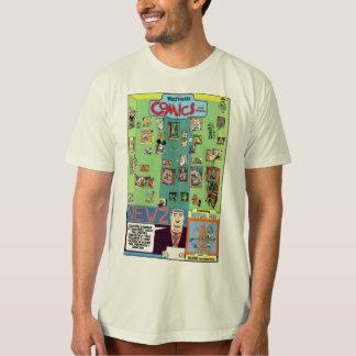 """Camiseta De """"t-shirt da história em quadrinhos e das"""