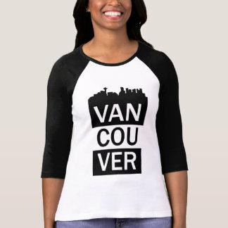 Camiseta De t-shirt da luva das mulheres 3/4 - rotulação de