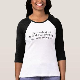 Camiseta De t-shirt da luva das mulheres 3/4, vida
