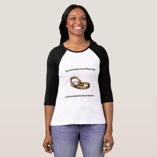Camiseta De t-shirt da luva das mulheres da armadilha do