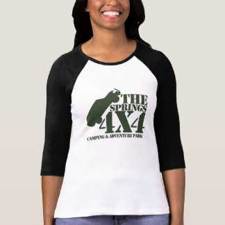 Camiseta De t-shirt da luva das mulheres dos primaveras 4X4