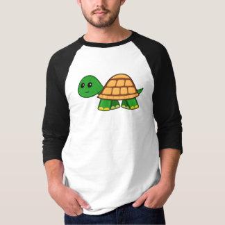 Camiseta De t-shirt da luva dos homens bonitos da tartaruga