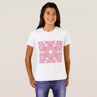 "Camiseta De ""t-shirt da menina da flor Cosmo"" da mandala"